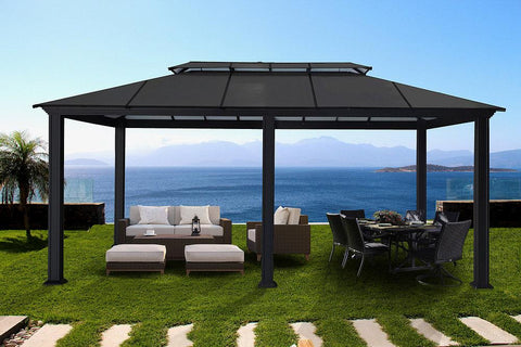 Paragon 12x20 Santa Monica Hard Top Gazebo Gazebo Paragon-Outdoor