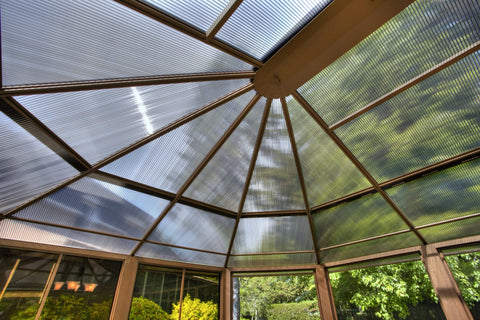 Image of Penguin™ Sunroom Kit Gray/Tan with Polycarbonate Roof - The Better Backyard
