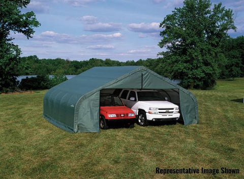Shelter Logic 20x22x13 Peak Style Shelter - The Better Backyard