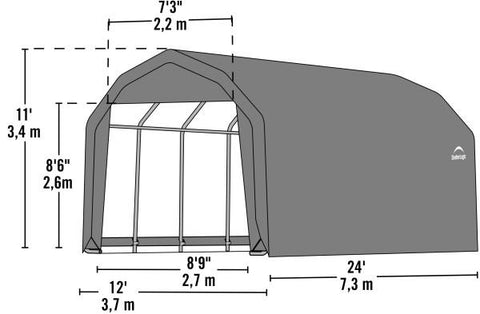 Shelter Logic 24x12x11 Barn Shelter - The Better Backyard