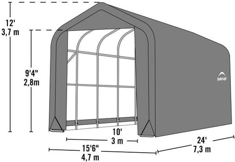 Shelter Logic 24x15x12 Peak Style Shelter - The Better Backyard
