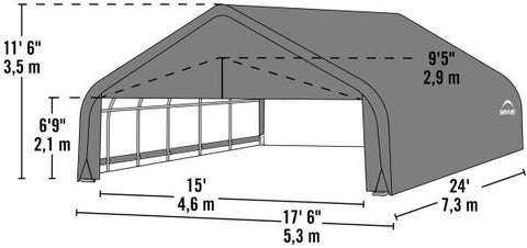 Image of Shelter Logic 24x18x11 Peak Style Shelter - The Better Backyard