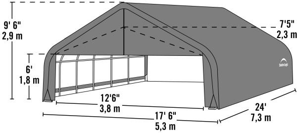 Shelter Logic 24x18x9 Peak Style - The Better Backyard