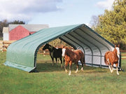 Image of Shelter Logic 24x22x13 Peak Style Run-In Custom Shelters - The Better Backyard