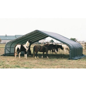 Shelter Logic 24x22x13 Peak Style Run-In Custom Shelters - The Better Backyard