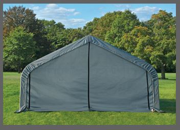 Shelter Logic 28x12x8  Peak Style Shelter - The Better Backyard