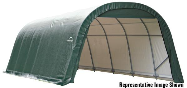 Shelter Logic 28x12x8 Round Style Shelter - The Better Backyard
