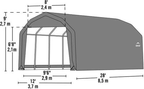 Shelter Logic 28x12x9 Barn Shelter - The Better Backyard