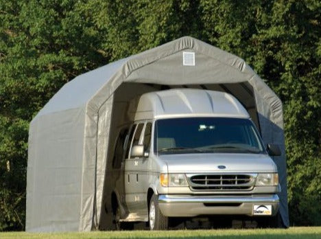 Shelter Logic 28x15x12 Peak Style Shelter - The Better Backyard