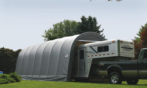 Shelter Logic 28x15x12 Round Style Shelter - The Better Backyard
