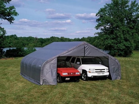 Shelter Logic 28x22x13 Cover Peak Style Shelter - The Better Backyard