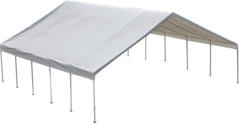 Image of Shelter Logic 30x30x13 Frame White Cover FR Rated Canopy - The Better Backyard