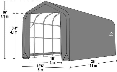 Shelter Logic 36x16x16 Peak Style Shelter - The Better Backyard