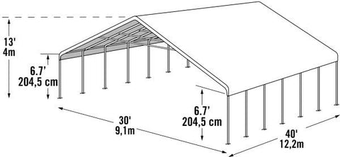 Image of Shelter Logic 40x30 Canopy Shelter - The Better Backyard