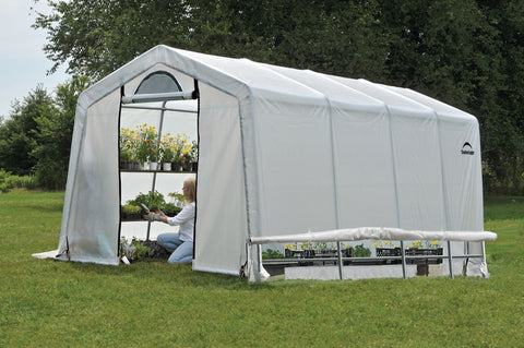 ShelterLogic GrowIT Greenhouse-in-a-Box Peak 10 x 20 ft. Greenhouse Greenhouses ShelterLogic