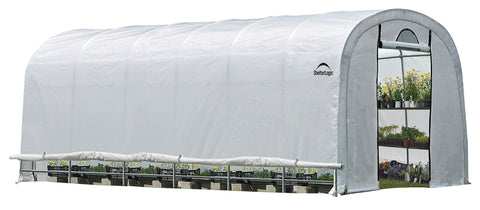 Image of ShelterLogic GrowIT Heavy Duty 12 x 24 ft. Round Greenhouse Greenhouses ShelterLogic