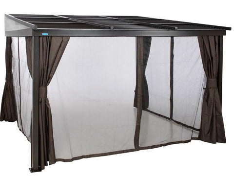 Sojag™ 10x12 Francfort Patio Gazebo Netting and Curtains Included - The Better Backyard
