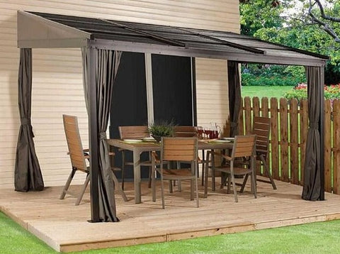 Image of Sojag™ 10x12 Francfort Patio Gazebo Netting and Curtains Included - The Better Backyard