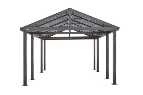 Sojag™ 12x20 ft Samara DIY Carport in Dark Gray Garage SOJAG