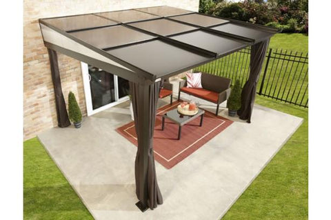 Sojag™ Budapest 10x12 Patio Gazebo Netting and Curtains Included - The Better Backyard