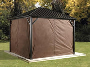 Image of Sojag™ Dakota Brown Privacy Curtains - The Better Backyard