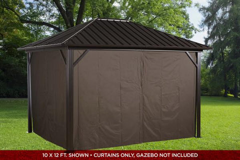 Sojag™ Genova Brown Privacy Curtains - The Better Backyard