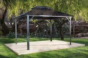 Image of Sojag™ Genova Double Roof Gazebo with Mosquito Netting - The Better Backyard