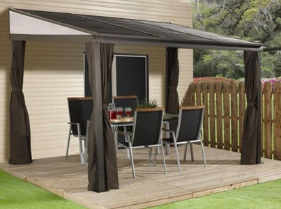Sojag™ Portland Patio Gazebo Netting and Curtains Included - The Better Backyard