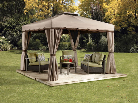 Image of Sojag™ Roma Soft Top Gazebo with Netting & Curtains Included - The Better Backyard
