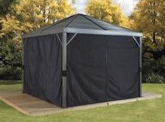 Image of Sojag™ Sanibel Black Privacy Curtains - The Better Backyard