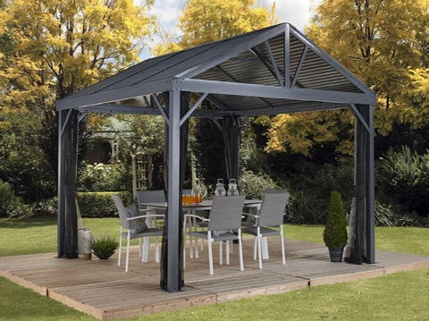 Sojag™ Sanibel I Gazebo Steel Roof with Mosquito Netting - The Better Backyard