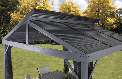 Image of Sojag™ Sanibel II Gazebo Steel Roof with Mosquito Netting - The Better Backyard