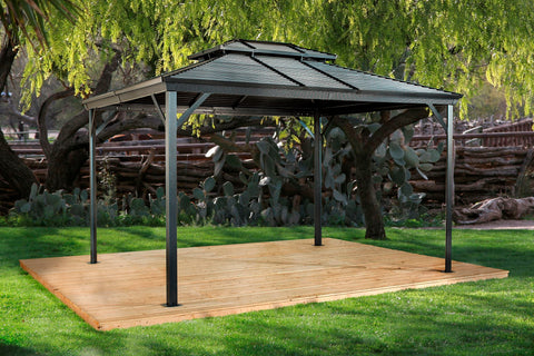 Image of Sojag™ Ventura Steel Double Roof Gazebo with Mosquito Netting Gazebo SOJAG