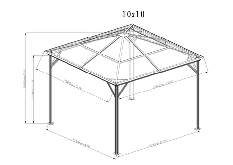 Image of Sojag™ Verona Hard Roof Gazebo with Mosquito Netting - The Better Backyard