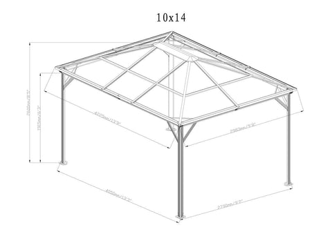 Sojag™ Verona Hard Roof Gazebo with Mosquito Netting - The Better Backyard