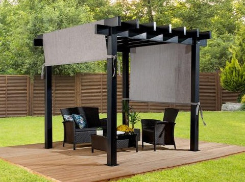 Image of Sojag Yamba Pergola with Adjustable Shade Grey Pergola SOJAG 10x10
