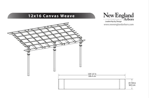 Vita Canvas Weave Pergola Shade Accessories Vita
