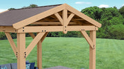 Image of Yardistry 10x10 Tuscan Pavilion 100% Cedar with Aluminum Roof Gazebo Yardistry
