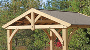Image of Yardistry 11 x 13 Carolina Pavilion 100% Cedar with Aluminum Roof Gazebo Yardistry