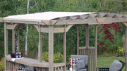 Image of Yardistry 14 x 10 Madison Pergola with Sunshade & Bar Counter Pergola Yardistry