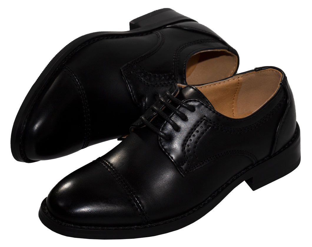 Round Lace Up Cap Toe Dress Shoe (Anthony)