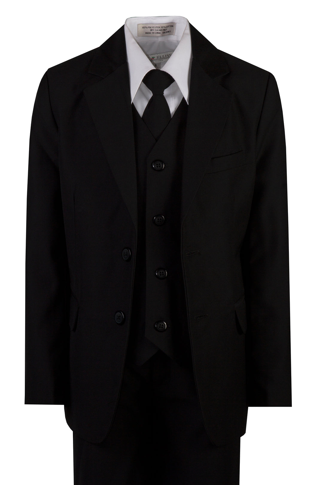 Classic 2 Button Notch Slim Fit Suit with Matching Neck Tie (Dustin)