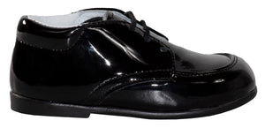 Round Toe Lace Up Tuxedo Shoes with Stitched Toe (Levi)