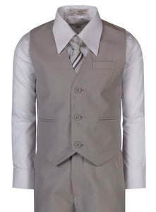 2 Button Standard Fit Suit with Designer Neck Tie (Chris)