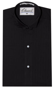 Formal Wing Tip Pleated Tuxedo Shirt with Studs (Giovanni)