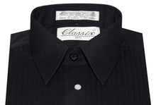 Load image into Gallery viewer, Formal Lay Down Pleated Tuxedo Shirt with Studs (Jude)