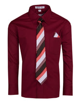 Load image into Gallery viewer, Formal Button Up Colored Dress Shirt with Neck Tie - Classic Colors (Hayden)