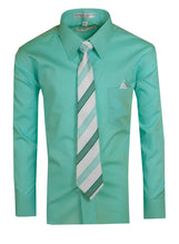 Load image into Gallery viewer, Formal Button Up Colored Dress Shirt with Neck Tie - Trendy Colors (Hayden)