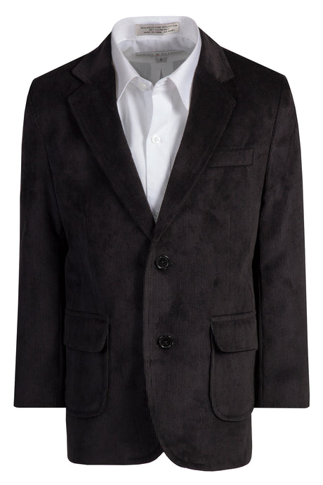 2 Button Standard Fit Corduroy Blazer Jacket (Cooper)