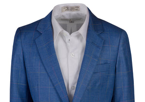 1 Button Slim Fit Checkered Blazer Suit (Jackson)